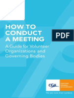 How to Conduct Meeting4ngo