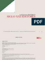 Catalogo Historico de Siglo XXI Editores
