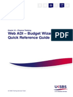 Web ADI - Budget Wizard Quick Reference Guide