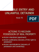 Forcible Entry and Unlawful Detainer