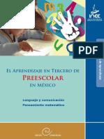 59400209 El Aprendizaje en Tercero de Preescolar en Mexico Lenguaje y Comunicacion Pensamiento Matematico