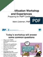 PMP Certification Workshop