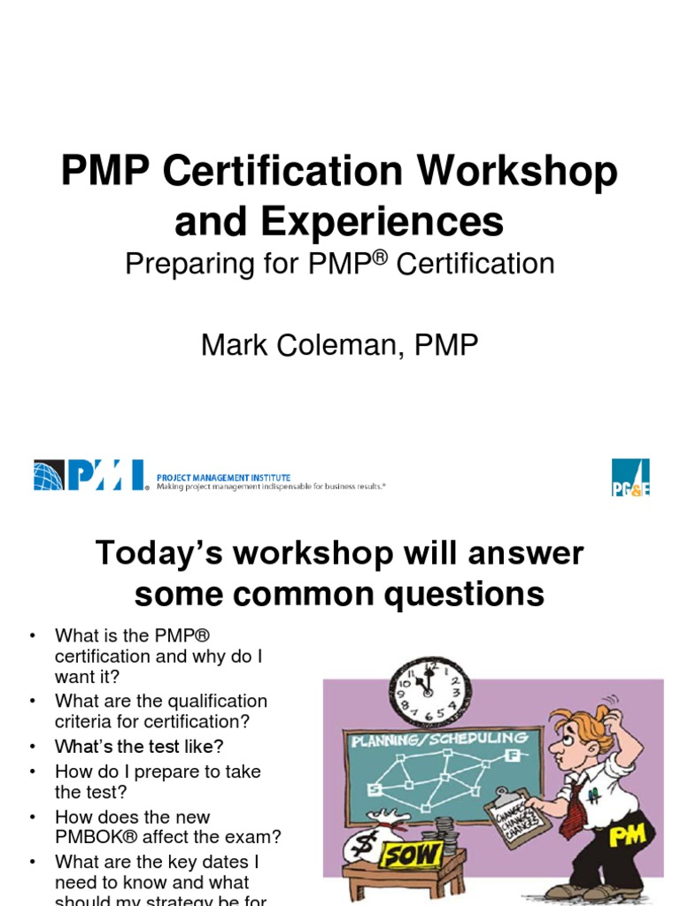 Pmp Certification Workshop Project Management Professional Test