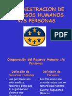 Administracion de Recursos Humanos Vrs. Personas