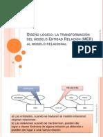 Paso del Modelo Entidad-Relación al Modelo Relacional