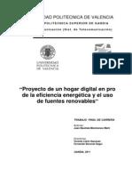 Proyecto de un hogar digital en pro  de la eficiencia energética y el uso  de fuentes renovables