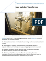 Electrical-Engineering-portal.com-Purpose of Shielded Isolation Transformer