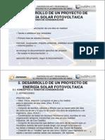 DESARROLLO DE UN PROYECTO DE  ENERGÍA SOLAR FOTOVOLTAICA