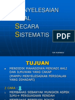 2. Pendekatan Penyelesaian Secara Sistematis