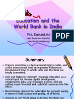 Education and the World Bank in India