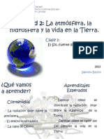 La atmósfera, la hidrósfera y la vida en la Tierra