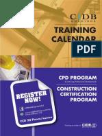 Training Calendar 2014 Cpd Ccp