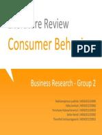 Literature Review on Consumer Behavior