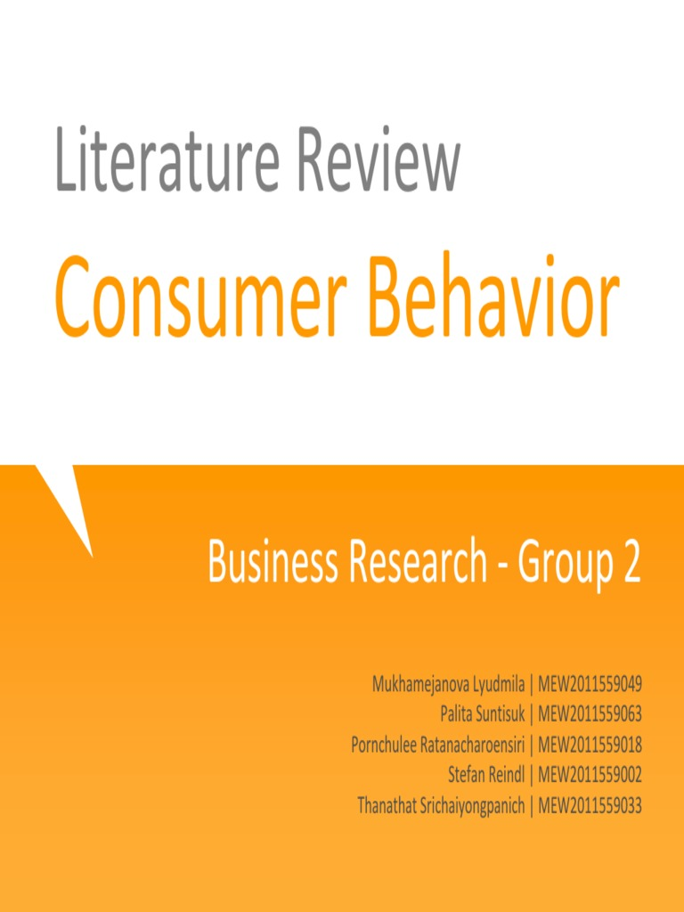 Create Literature Review on Consumer Buying Behaviour | Writing a Literature Review