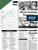 Effective Purchasing Managment