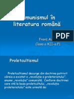 Comunismul în literatura română- Frent Adina