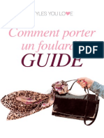 Comment Nouer Un Foulard Stylesyoulove Guide