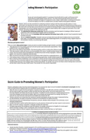 Quick Guide to Promoting Women's Participation