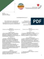 Volksabstimmungen und Direkte Demokratie - Gesetzentwurf Andreas Pöder Landtag