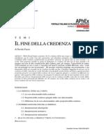 Fassio - Il Fine Della Credenza