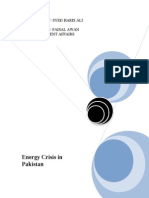 descriptioon n reasons of energy crisis in pakistan