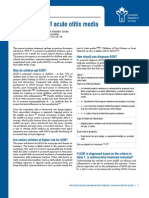 Management of Acute Otitis Media