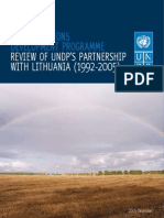 Review of UNDP's Partnership With Lithuania (1992-2005)