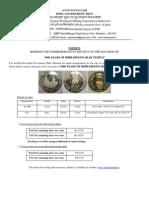 1000 rupee coin