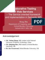 Service-Oriented Testing-Tsinghua Sept 2009