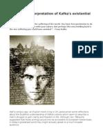 A Buddhist Interpretation of Kafka's Existential Writings
