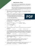 JEST Sample Paper 1