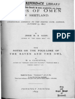 Saxby - Birds of Omen in Shetland