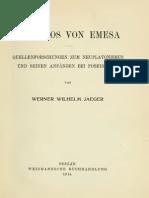 Nemesios Von Emesa - Jaeger (1914)