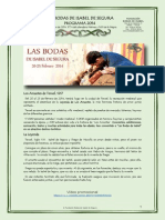 Programa 2014 Las Bodas de Isabel Segura
