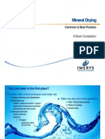Mineral Drying - Summary of Best Practice 2013-06-18