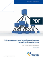 Using Statement-level Templates to Improve the Quality of Requirements