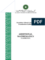 Additional Mathematics Classes IX-X_Latest Revision June 2012