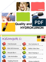 Quality and Control hydrokuinon