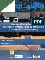 Sistemul Electoral Pentru Europarlamentare 21