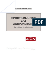 Sports Injuries and Acupuncture