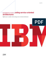 Lessons From Testing Service-Oriented Architectures