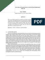 Analisis Volatilitas Nilai Tukar Mata Uang Rupiah Terhadap Usd