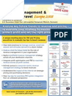 EyeforTravel - Revenue Management & Pricing in Travel Europe 2008