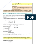 Revision 3 by 3 Matrices and Equations