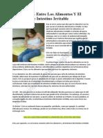 La Conexión Entre Los Alimentos Y El Síndrome De Intestino Irritable
