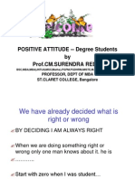 Positive Atttitude for Effective Studies