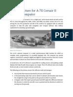 A7E Software Module Guide