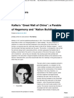 "Kafka's ""Great Wall of China"" a Parable of Hegemony and ""Nation"