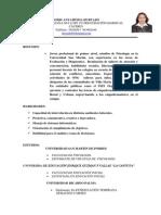 Doris Anyaipoma Hurtado Curriculum 2013