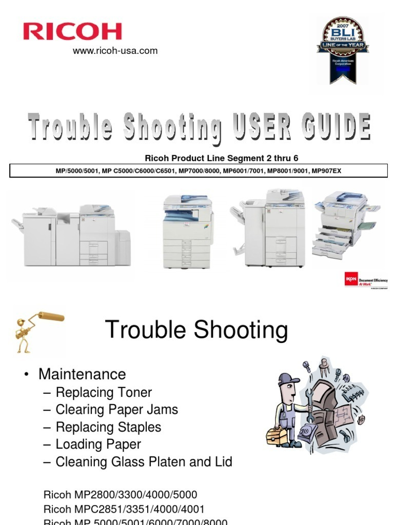 Basic Operator Troubleshooting and Maintenance Guide for Ricoh Copiers |  Photocopier | Technology